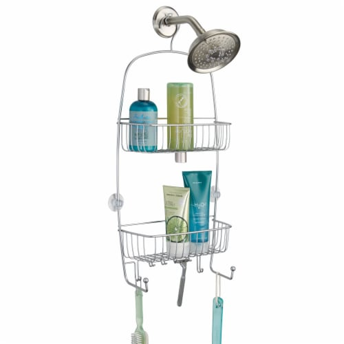 InterDesign Raphael Extra Large Shower Caddy - Silver Perspective: front