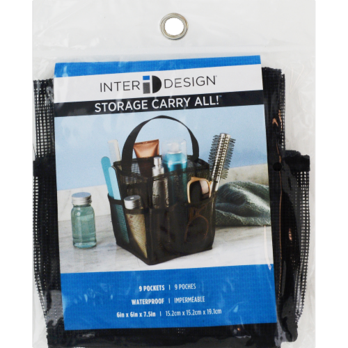 InterDesign Mesh Storage Carry All - Black Perspective: front