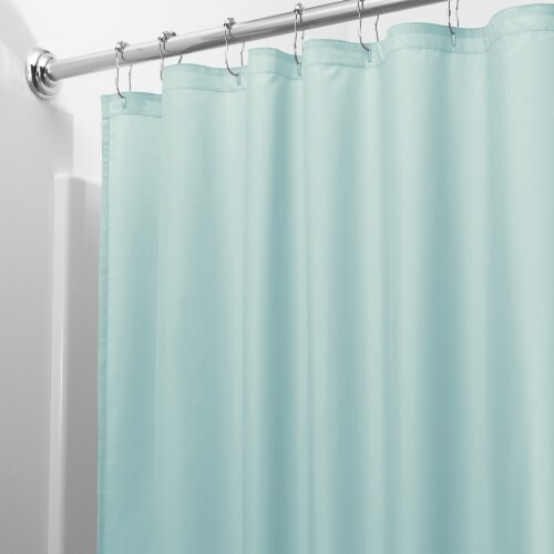 iDesign Mint Shower Curtain Liner Perspective: front