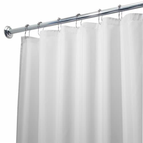 Idesign White Shower Curtain Liner 108