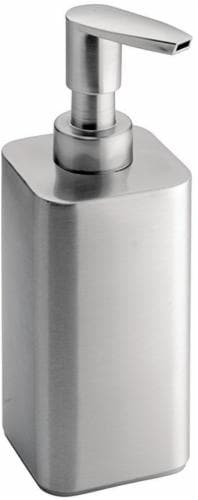 iDesign Gia Satin Stainless Soap Pump - Silver Perspective: front