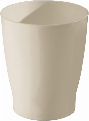InterDesign Zia II Waste Basket - Taupe Perspective: front