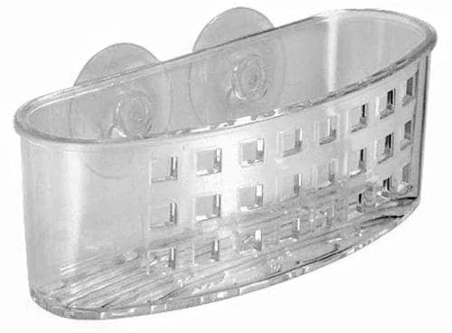 InterDesign Suction Bath Caddy - Clear Perspective: front