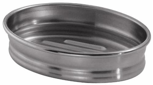 iDesign Cameo Stainless Steel Soap Dish - Silver Perspective: front