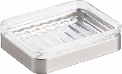 InterDesign Casilla Soap Dish - Clear Perspective: front