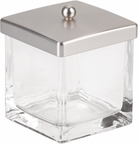 iDesign® Casilla Bathroom Canister - Clear Perspective: front