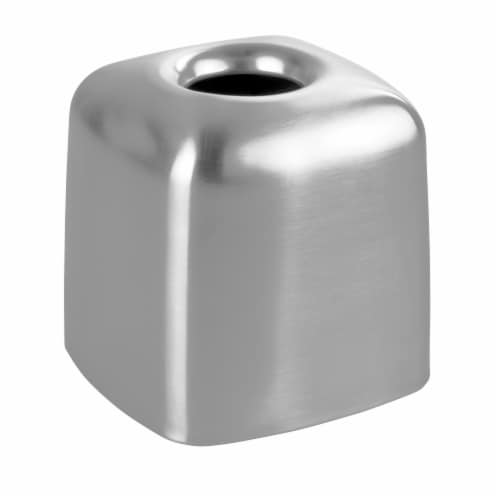 iDesign Nogu Boutique Tissue Box Cover - Silver Perspective: front