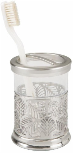 InterDesign Fauna Brushed Nickel Toothbrush Holder Perspective: front
