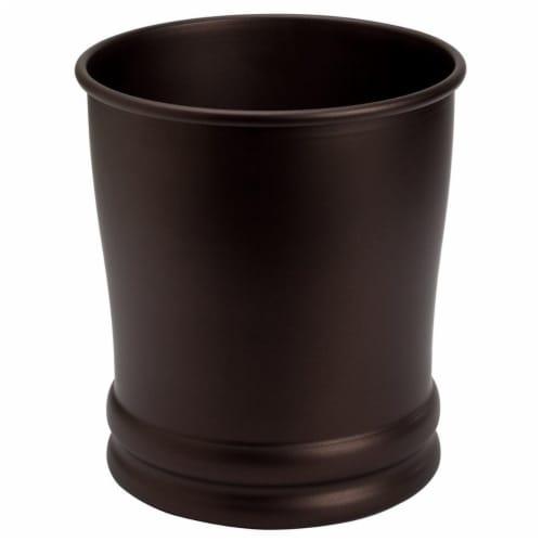 Interdesign 26581 Olivia Wastebasket Trash Can, Bronze Perspective: front