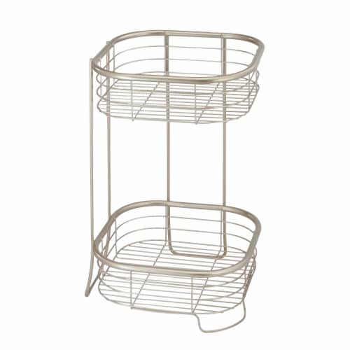 iDesign Forma 2-Tier Shower Shelf Square Perspective: front