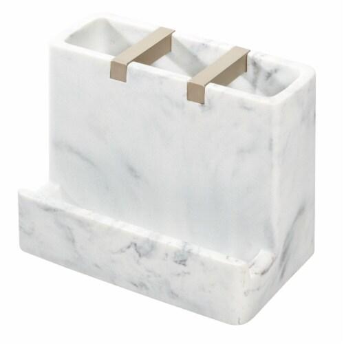 iDesign Dakota Vanity Center - Marble White Perspective: front