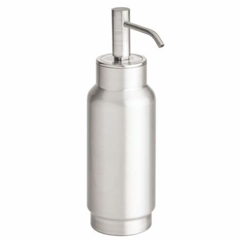 iDesign Austin Brushed Soap Pump - Silver Perspective: front