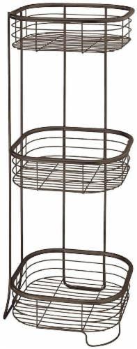 InterDesign Forma 3-Tier Shower Shelf - Bronze Perspective: front
