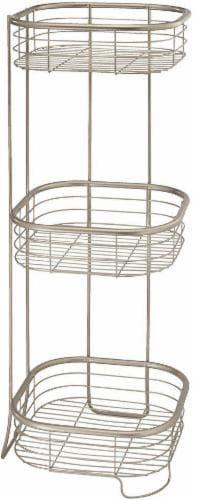InterDesign Forma 3-Tier Shower Shelf - Bronze - Satin Perspective: front