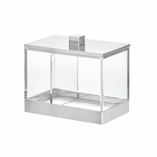InterDesign Clarity Divided Canister - Clear/Chrome Perspective: front