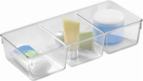 iDesign Clarity 3-Compartment Tray - Clear Perspective: front
