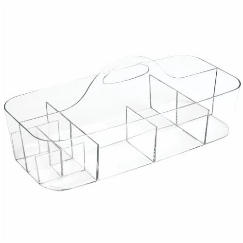 InterDesign Clarity Vanity Organizer - Clear Perspective: front