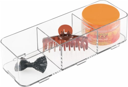InterDesign Clarity Interlocking Drawer Organizer - Clear Perspective: front