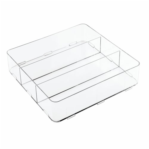 iDesign Clarity Interlocking Divided Drawer Organizer - Clear Perspective: front