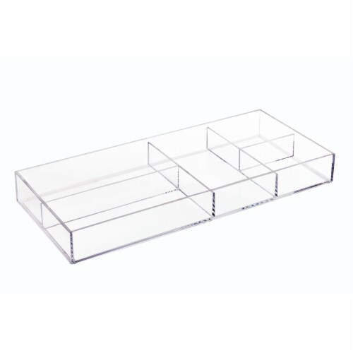 InterDesign Clear Divided Tray Perspective: front