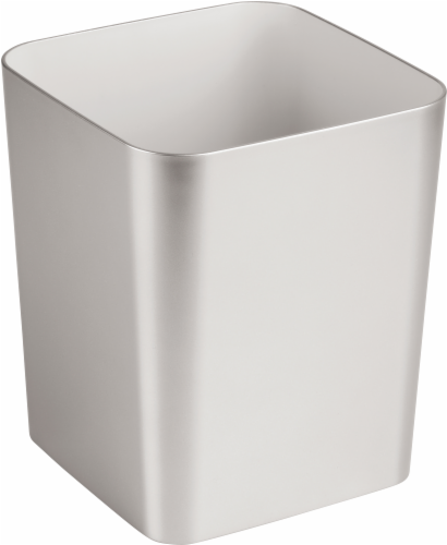 iDesign Casilla Waste Can - Brushed Perspective: front