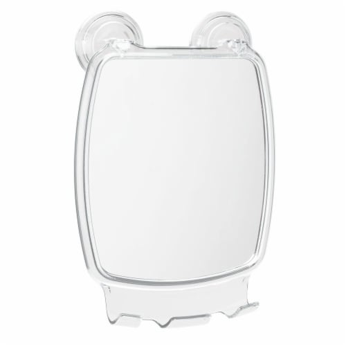 iDesign Power Lock Suction Square Mirror - Clear Perspective: front