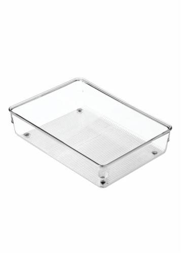 iDesign Linus Drawer Organizer - Clear Perspective: front