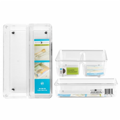 iDesign Linus Twin Drawer Organizer Perspective: front