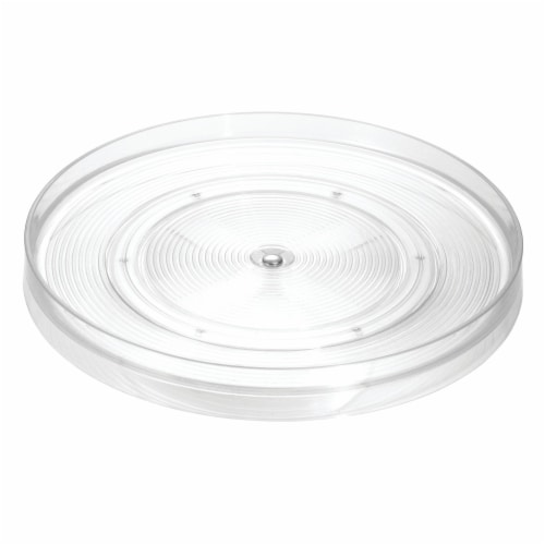 iDesign Linus Lazy Susan Turntable - Clear Perspective: front