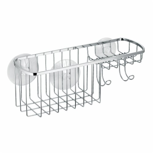 iDesign Gia Suction Combo Organizer Basket Perspective: front