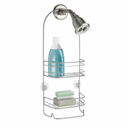iDesign Rondo Shower Caddy - Silver Perspective: front