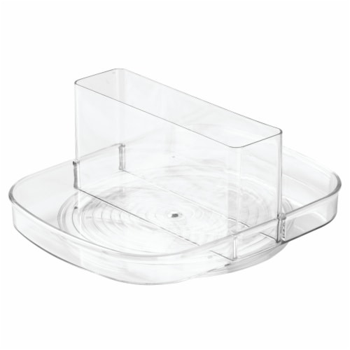 iDesign Linus Napkin Spinner - Clear Perspective: front