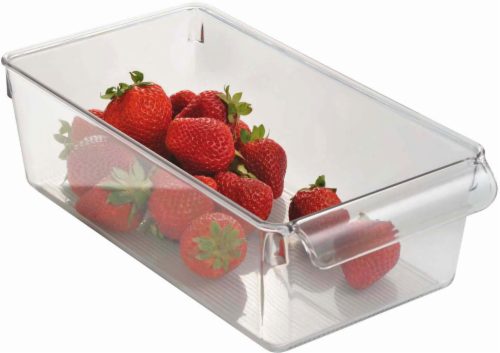 iDesign Linus Pullz Organizer Bin - Clear Perspective: front