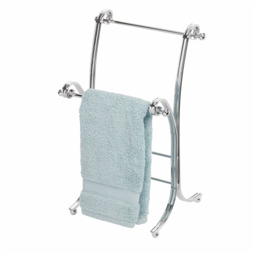 iDesign York Lyra Towel Stand Perspective: front