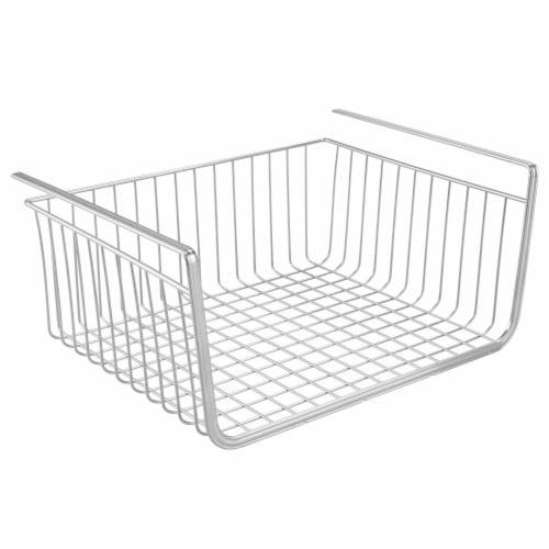InterDesign York Lyra Under Shelf Wire Storage Basket - Silver Perspective: front