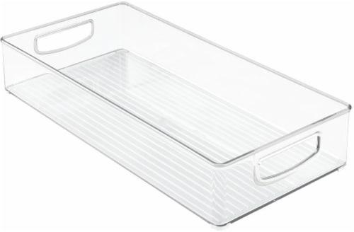 iDesign Kitchen Binz Plastic Stackable Organizer - Clear Perspective: front