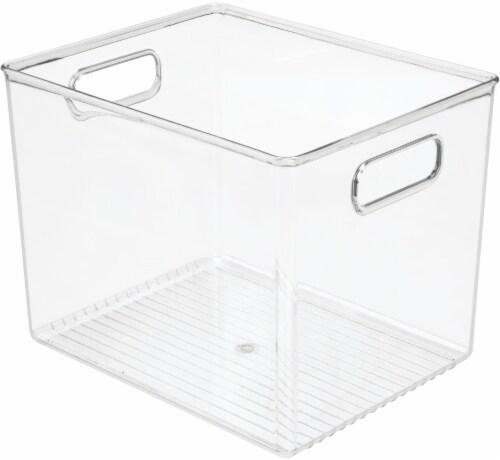 iDesign Linus Binz Storage Bin - Clear Perspective: front