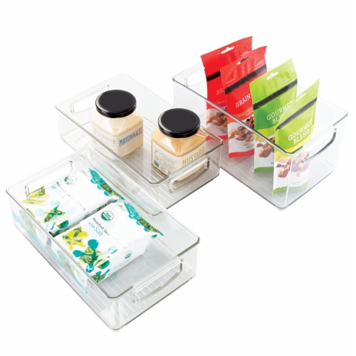iDesign Kitchen Storage Bins - Clear Perspective: front