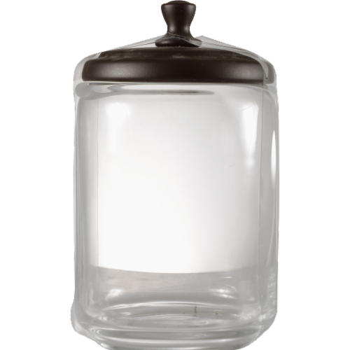 InterDesign York Apothecary Jar Perspective: front