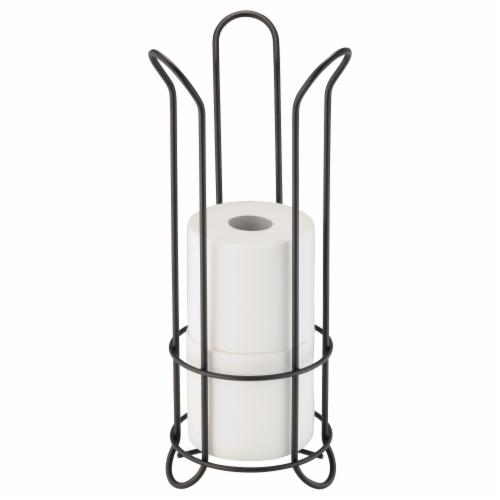 InterDesign Classico 2 Tulip Toilet Paper Roll Reserve - Bronze Perspective: front