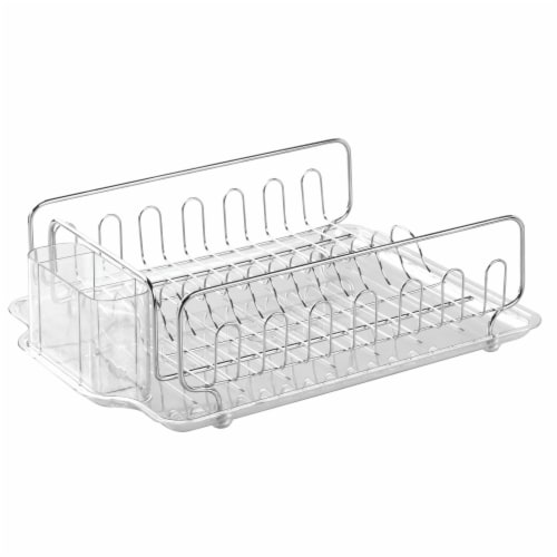 iDesign Forma Stainless Steel Dish Drainer Perspective: front