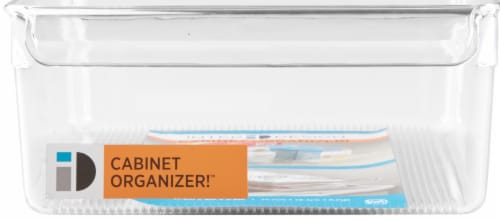 iDesign Linus Pullz Organization Bin - Clear Perspective: front