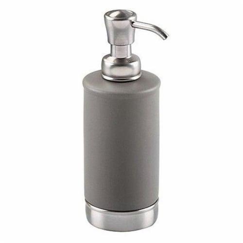 iDesign York Matte Soap Pump - Gray/Nickel Perspective: front