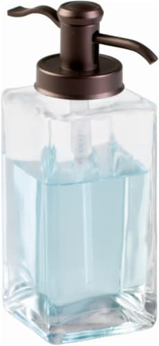 InterDesign Casilla Foaming Soap Pump - Bronze/Clear Perspective: front