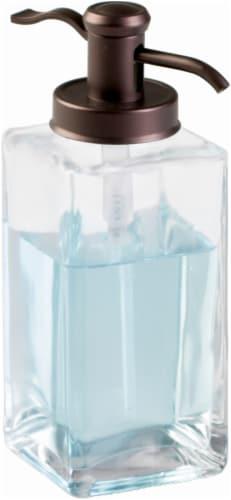 InterDesign Casilla Foaming Soap Pump - Bronze/Clear Perspective: front