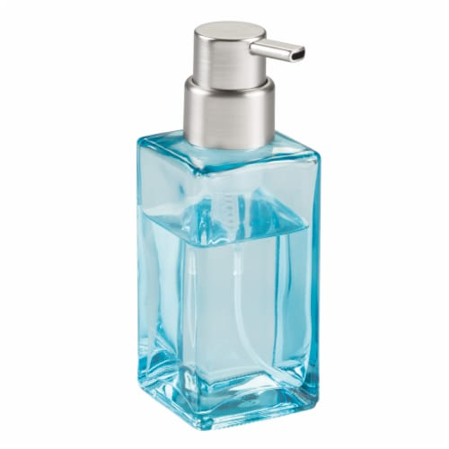 iDesign Casilla Modern Foaming Soap Pump - Blue Perspective: front