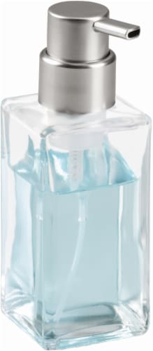 iDesign Casilla Modern Foaming Soap Pump - Clear Perspective: front