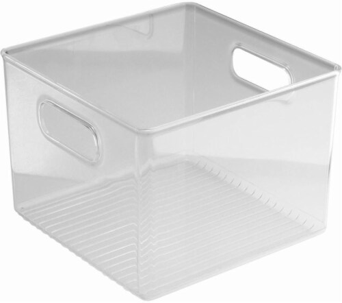 iDesign Fridge and Pantry Storage Bin - Clear Perspective: front