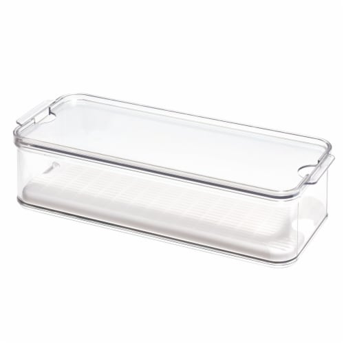InterDesign Crisp Produce Bin - Clear Perspective: front