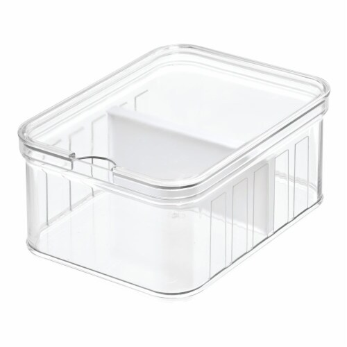 InterDesign Small Divided Stacklable Crisper Bin Perspective: front